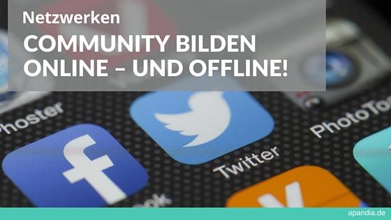 Netzwerken: Community bilden – online und offline! (Bild: Social Media Icons)