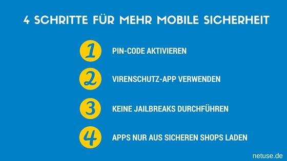 4 Schritte für mehr mobile Sicherheit