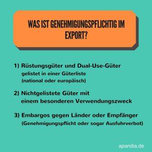 AWG: Genehmigungspflichtig im Export