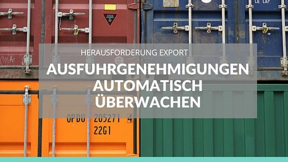 AWG: Ausfuhrgenehmigungen