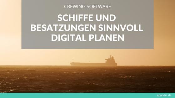Crewing Software: Schiffe und Besatzungen sinnvoll digital planen. Bild: Tanker auf hoher See