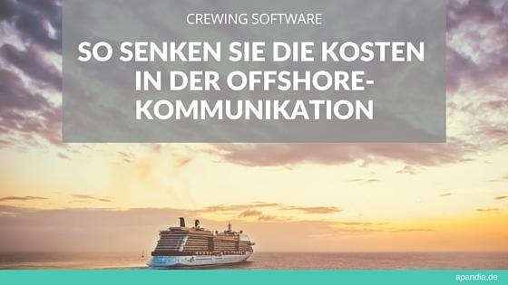 Crewing Software: So senken Sie die Kosten in der Offshore-Kommunikation. Bild: Kreuzfahrtschiff auf hoher See